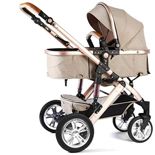 For Sale! HANER Stroller 2 in 1 High Landscape, Two-Way Folding Shock Absorption System, Two-Way Imp...