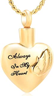 Imrsanl Cremation Jewelry for Ashes for Family Urn Necklace Pendants Ashes Keepsake Memorial Ash Jewelry for Loved Ones