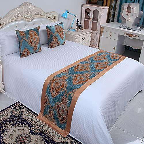 Bed Runner sänglöpare Hotell sängflagg sängkläder sängkläder säng svansband high-end hotell kram kuddfodral sängmatta i europeisk stil enkel sängöverdrag,D,50 * 160cm for 1m bed