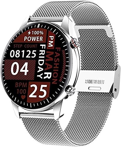 wyingj Reloj inteligente para mujer con reproductor de música de 1 GB, Bluetooth, con monitor para hombres y mujeres, reloj deportivo