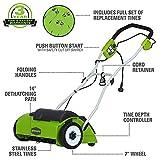 Greenworks 10 Amp 14-Inch Corded Dethatcher, 27022
