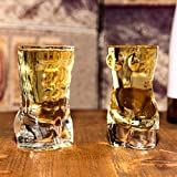 Whisky Decanter Crystal Sexy Lady Hombres Arte Desnudo Whisky Gafas Vino, Cheers creativos KTV Bar Whisky Ice Beber Embalos para decoraciones de barras - 400ml Whisky Decanter Set Crystal (Color: B)