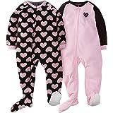 Gerber Girls' 2-Pack Blanket Sleeper, Love, 3T
