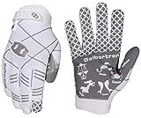 Seibertron Pro 3.0 Twelve Constellations Elite Ultra-Stick Sports Receiver Glove Football Gloves Youth White XL