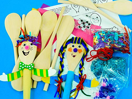 Anthony Peters Make and decorate Spoon People kits - pack of 10