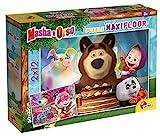 Liscianigiochi 86092 Lisciani Giochi – Maxi Puzzle de Masha y el Oso de 24 Piezas-Puzle para niños, Multicolor