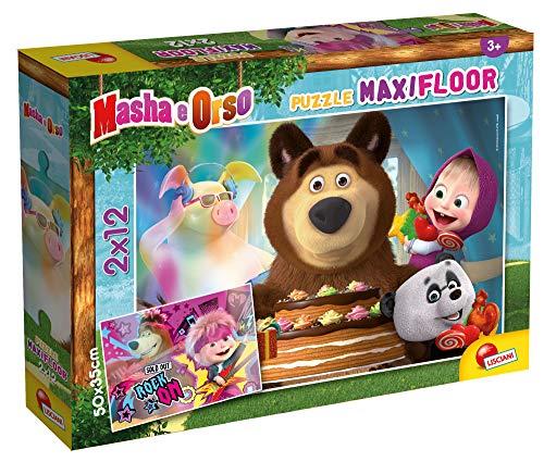Lisciani- Masha et Michka Puzzle Maxifloor 24 piéces - Puzzle pour Enfants