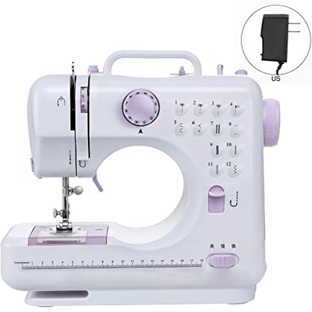 Electric Portable Sewing Machine Desktop Household Tailor 2 Speed Foot Pedal