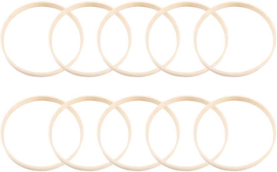 Kranzringe Heimdekoration Hochzeitsdekoration Basteln 13 St/ück Makramee-Ringe f/ür Traumf/änger HEALLILY Traumf/änger-Ringe aus Bambusholz 10 cm
