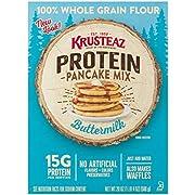 Krusteaz Protein Pancake Mix, Buttermilk - 100% Whole Grain Flour - 20 OZ (Pack of 2)