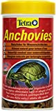 Tetra Anchovies (Wasserschildkrötenfutter, Naturfutter mit kleinen ganzen getrockneten Fischen), 250 ml Dose