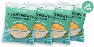 Outer Aisle Gourmet Cauliflower Sandwich Thins | Low Carb, Paleo Friendly, Keto | Original Sandwicher 4 pack (4pk Original Thins) - 24 Thins