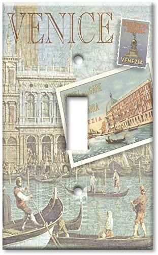 Placa de cubierta de interruptor de luz decorativa - Single Gang Toggle OVERSIZE Placa de interruptor/MÁS TAMAÑO Placa de pared - Venecia