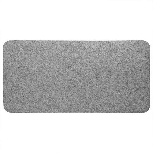 Pad - 68x33cm Fieltros Alfombrilla para ratón de mesa Escritorio de oficina Alfombrilla para portátil Alfombrillas antiestáticas para PC (gris claro)