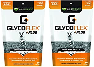 Vetri Science GlycoFlex Plus, Hip and Joint Supplement for Small Dogs, 60 Bite Sized Soft Chews Bundled with Canine Health Record Report