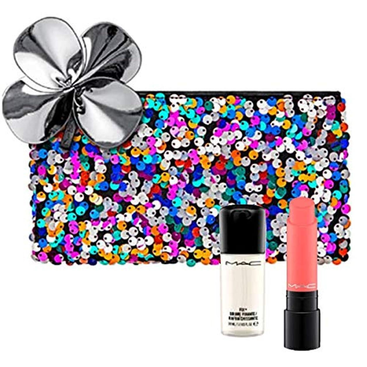 マスク結核荒涼としたM.A.C ?マック, Sequin Bag + Lipstick (King Salmon) + Mini Setting Spray(30ml) [海外直送品] [並行輸入品]