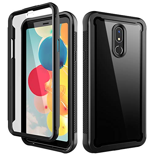 LG Stylo 5 Case,Sleebas 3-Layer Defender Shockproof Protective Case with Built-in Screen Protector for LG Stylo 5 (Black)