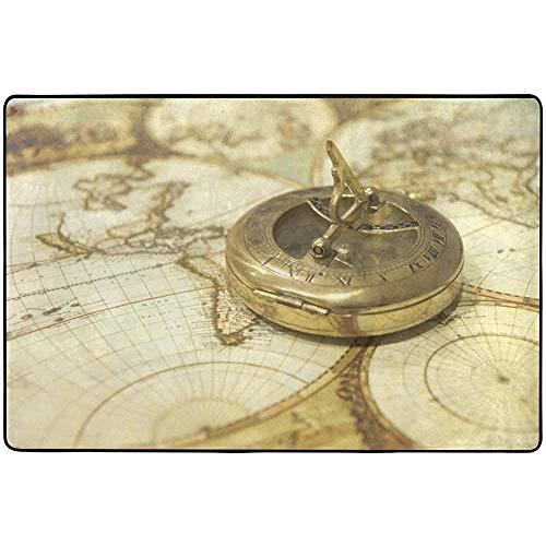 SESILY - Alfombrillas para exteriores, con mapas y relojes de bolsillo, para...
