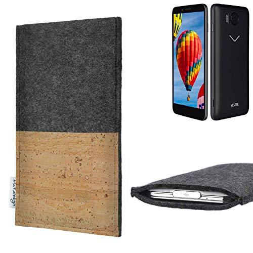 flat.design vegane Handy Hülle Evora für Vestel V3 5030 Kartenfach Kork Schutz Tasche handgemacht fair vegan