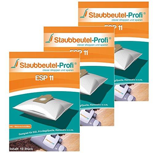 30 Staubsaugerbeutel ESP11 von Staubbeutel-Profi® kompatibel zu Swirl EIO80, Swirl EIO 80