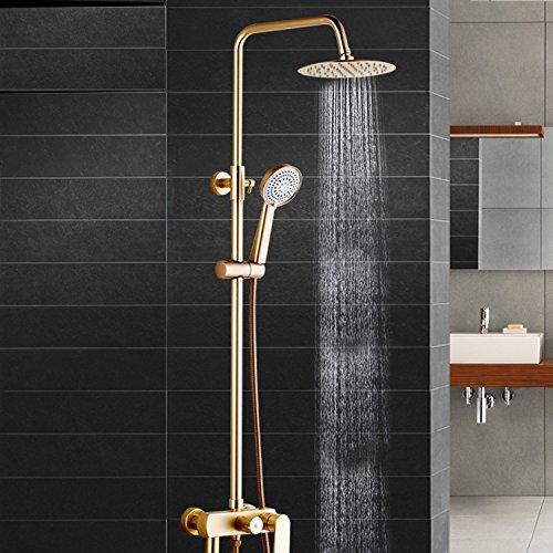 SAEJJ-Grifo de la ducha Espacio de aluminio dorado , ascensor y lluvia,...