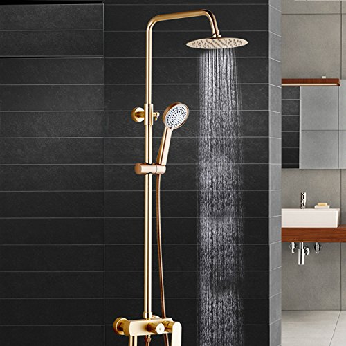 SAEJJ-Dusche Wasserhahn goldene raum aluminium - dusche, voll mit und regen, tuhao gold duschen wasserhahn,goldene Dusche Set