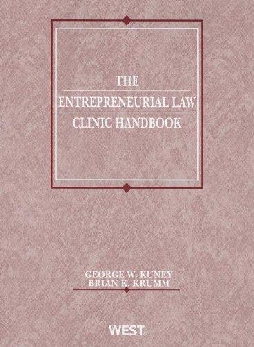 Download The Entrepreneurial Law Clinic Handbook (American Casebook) 0314280057