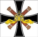 magFlags Flagge: Large Kommandoflagge oder Rangflagge der Deutschen Kaiserlichen Marine | Fahne 1.35m² | 110x120cm » Fahne 100% Made in Germany