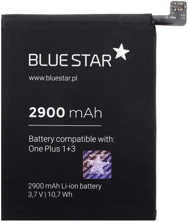 Blue Star Premium - Batería de Li-Ion 2900mAh de Capacidad Carga Rapida 2.0 Compatible con el OnePlus 3 / One+ 3