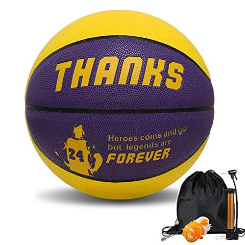 Original Print No.7 Pu Street Outdoor Basketball KB (Yellow Purple, 5)