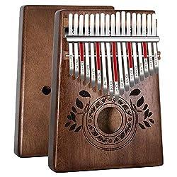 Kalimba 17 Schlüssel - Kalimba Daumenklavier, Hochwertiges afrikanisches Holz, Mbira mit Stimmhammer, Klaviertasche, Studienanleitung, Weihnachtsgeschenk für Kinder Anfänger