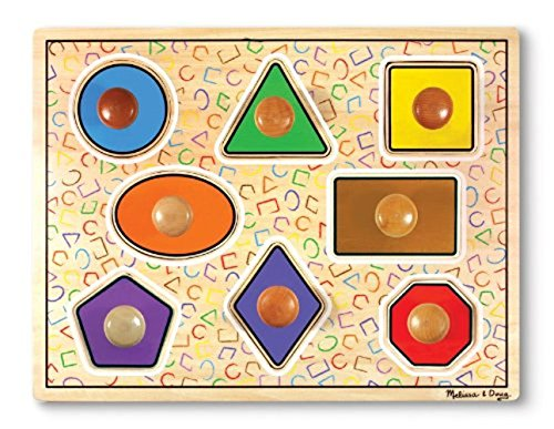 Melissa & Doug - 13390 - Puzzle À Gros Boutons - Formes Géométriques