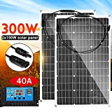 SISHUINIANHUA Panel Solar al Aire Libre 300W 18V Células solares...