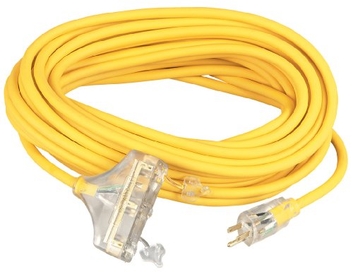 Coleman Cable 03589 10/3-Wire Gauge Tri-Source SJEOW Outdoor Vinyl Extension Cord, 100-Foot