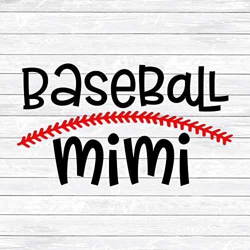 Just454on - Calcomanía de béisbol para béisbol Mimi, abuela de béisbol para puntadas de béisbol con hierro en la camisa de transferencia para mujer