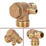 Conector de Válvula de Retención de Rosca Macho 3 Puertos Para Compresor de Aire