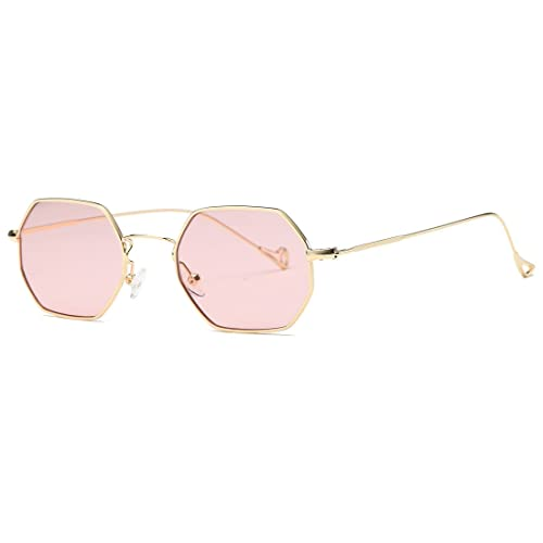 c1de0150db9 AEVOGUE Unisex Sunglasses Small Metal Frame Asymmetry Temple AE0520