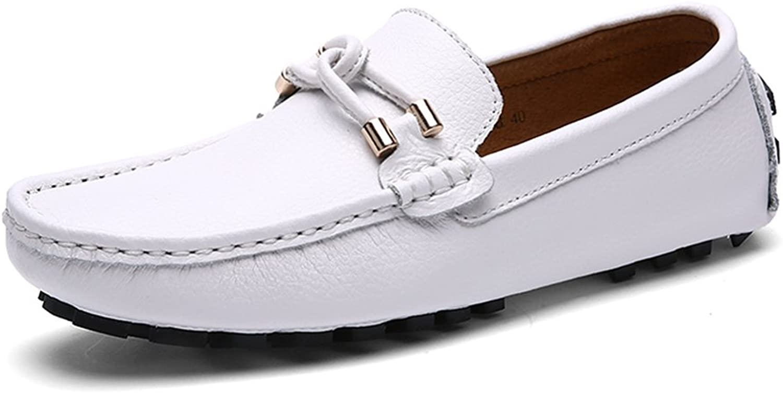 Men's Comfort Loafers Leather Spring Summer Comfort Loafers & Slip-Ons Dark bluee White Black Red Brown,C,43