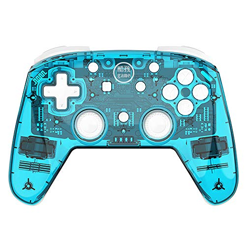 GoolRC Controlador Inalámbrico Switch Pro para Nintendo Switch y Switch Lite Giroscopio Incorporado de Seis Ejes Turbo Dual Vibration BT Connection (Azul)