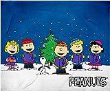 INTIMO Peanuts Snoopy Charlie Brown and Gang Christmas Caroling Silk Touch Fleece Plush Throw Blanket