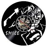 wtnhz LED-Orologio da Parete Vintage con Disco in Vinile Design Moderno riprese Foto Fotografia Tema Orologio da Parete Orologio da Parete Decorazione della casa Regalo per Fotografo