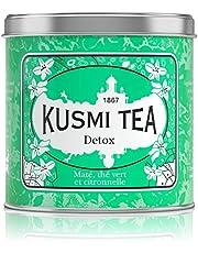 Kusmi Tea -Té Detox - Mezcla de Mate, Té Verde y Plantas con sabor a Limón - Para disfrutar caliente o helado - Aromas finamente acidulados - Lata de 250 g - Aprox. 100 tazas