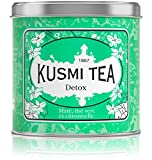 Kusmi Tea - Detox - Natural Green Tea with Lemongrass, Scent of Lemon and Blend of Yerba Mate (8.8 oz Metal Tin)