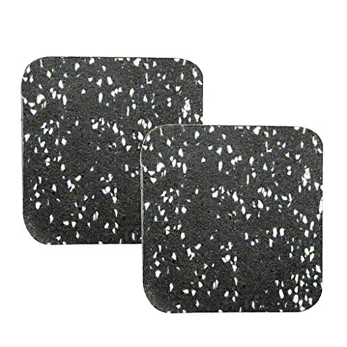 sharprepublic 2er-Pack Laufbandmatte Unterlegmatte, Laufband-Stoßdämpfermatte Schalldämmung Gummimatte für Trainingsgeräte - Grün