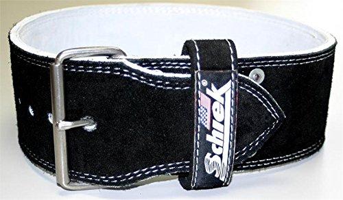 Schiek Sports L6011 Gewichthebergürtel aus Veloursleder, 10 cm breit, 9 mm dick