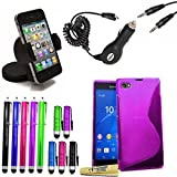 Accessory Master 14 in 1 value Mega pack Violet gel silicone Housse coque pour Sony xperia Z3 mini...