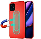 iPhone 11 Hülle, Layack Premium PU Leder Handyhülle, Bumpe Schutz Ständer mit Eingebauter Metal Plate für Magnet KFZ Autohalterung für iPhone 11