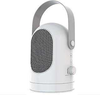BESTNIFY Mini Ventilador Eléctrico Calefactor Eléctrico bajo Consumo, Portátil Ventilador Calefactor PTC Cerámica Calefactor Aire Caliente Oscilación Automática