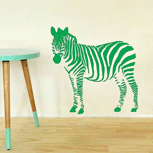 Pegatinas de pared de vinilo para niños muraux Zebra África Animal Pattern Removible Tatuajes de pared Sala de estar Dormitorio Decoración de pared D 42 * 42cm