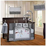 BabyFad - Juego de ropa de cama para cuna de bebé (10 piezas), diseño de búhos